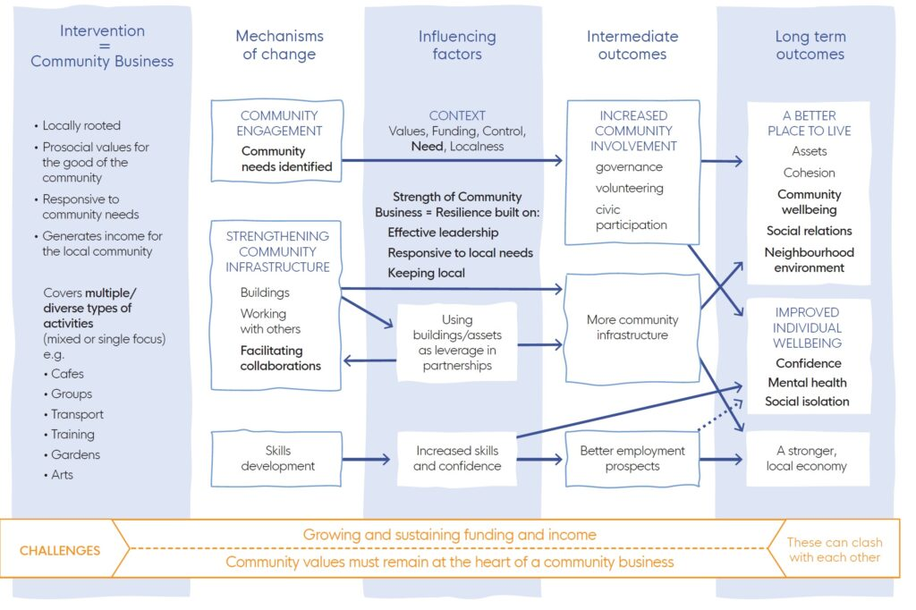 community business logic model- available in the briefing