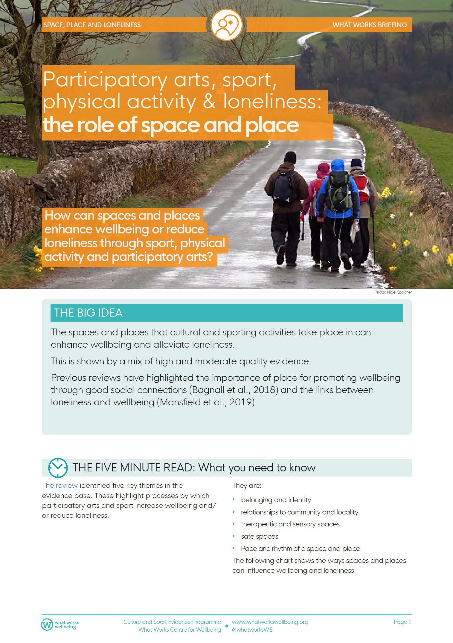 Participatory arts, sport, physical activity & loneliness: the role of space and place