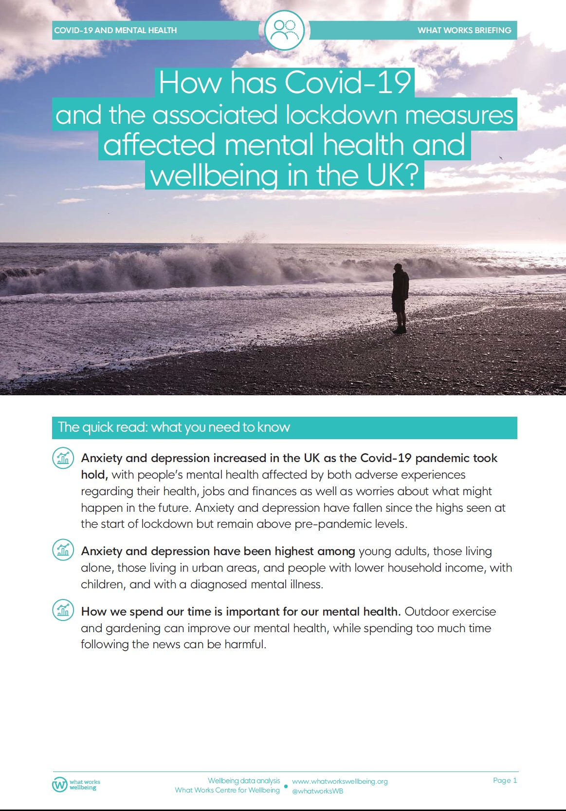 How has Covid-19 – and the associated lockdown measures – affected mental health and wellbeing in the UK?